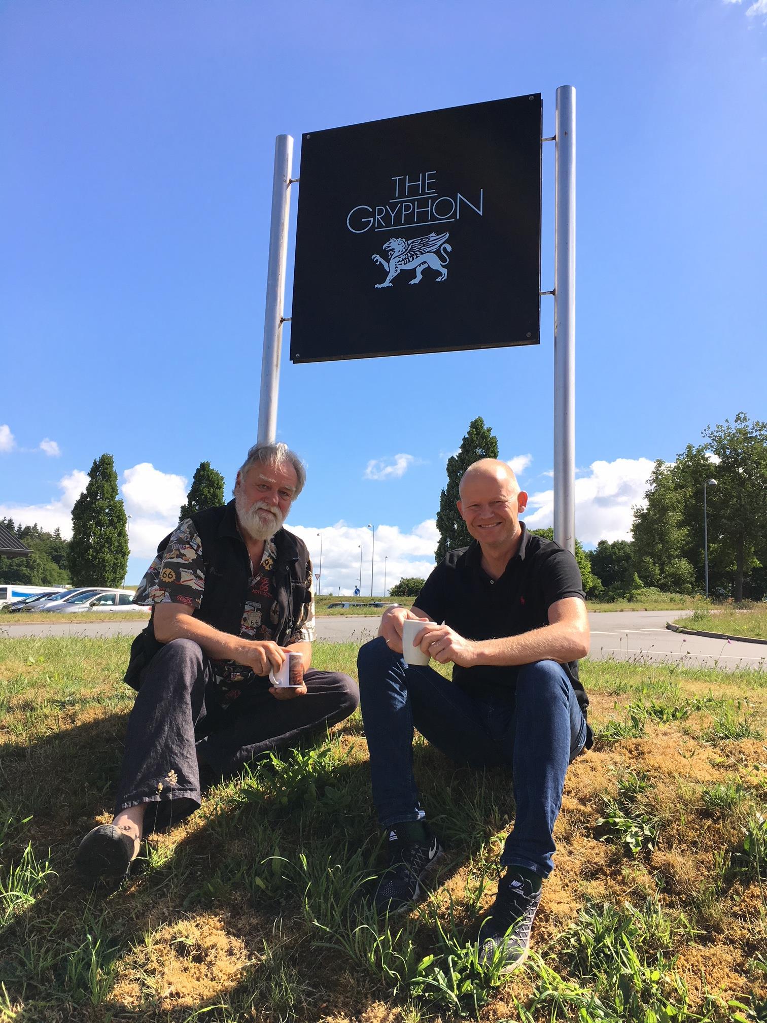 Il fondatore Gryphon, Flemming E. Rasmussen, e l'attuale CEO, Jakob Odgaard