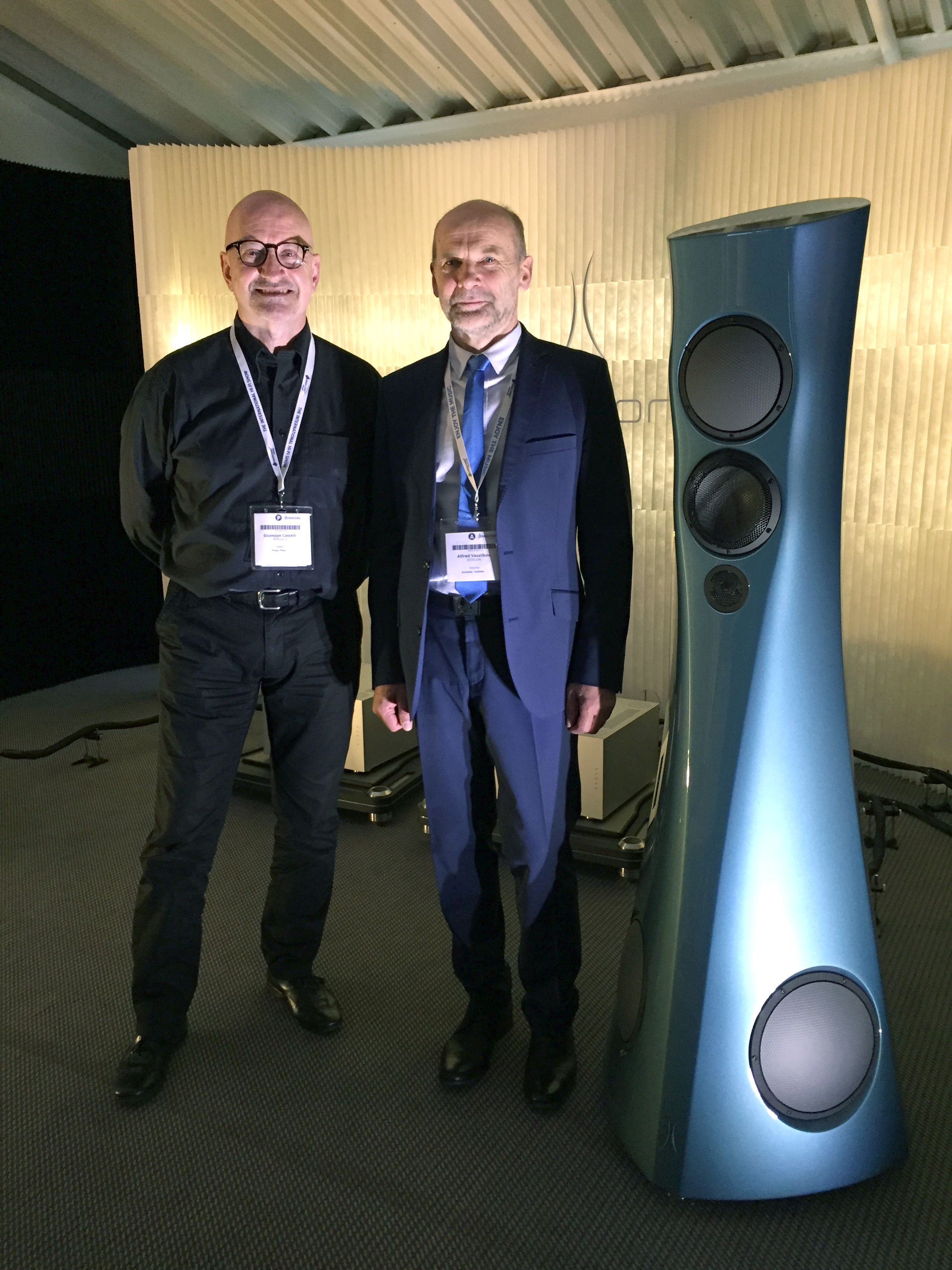 Me and Alfred Vassilkov, Estelon room, Munich High End 2019