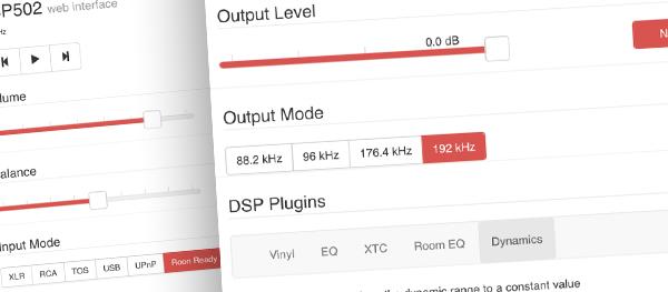 Weiss DSP501-502 Web Interface