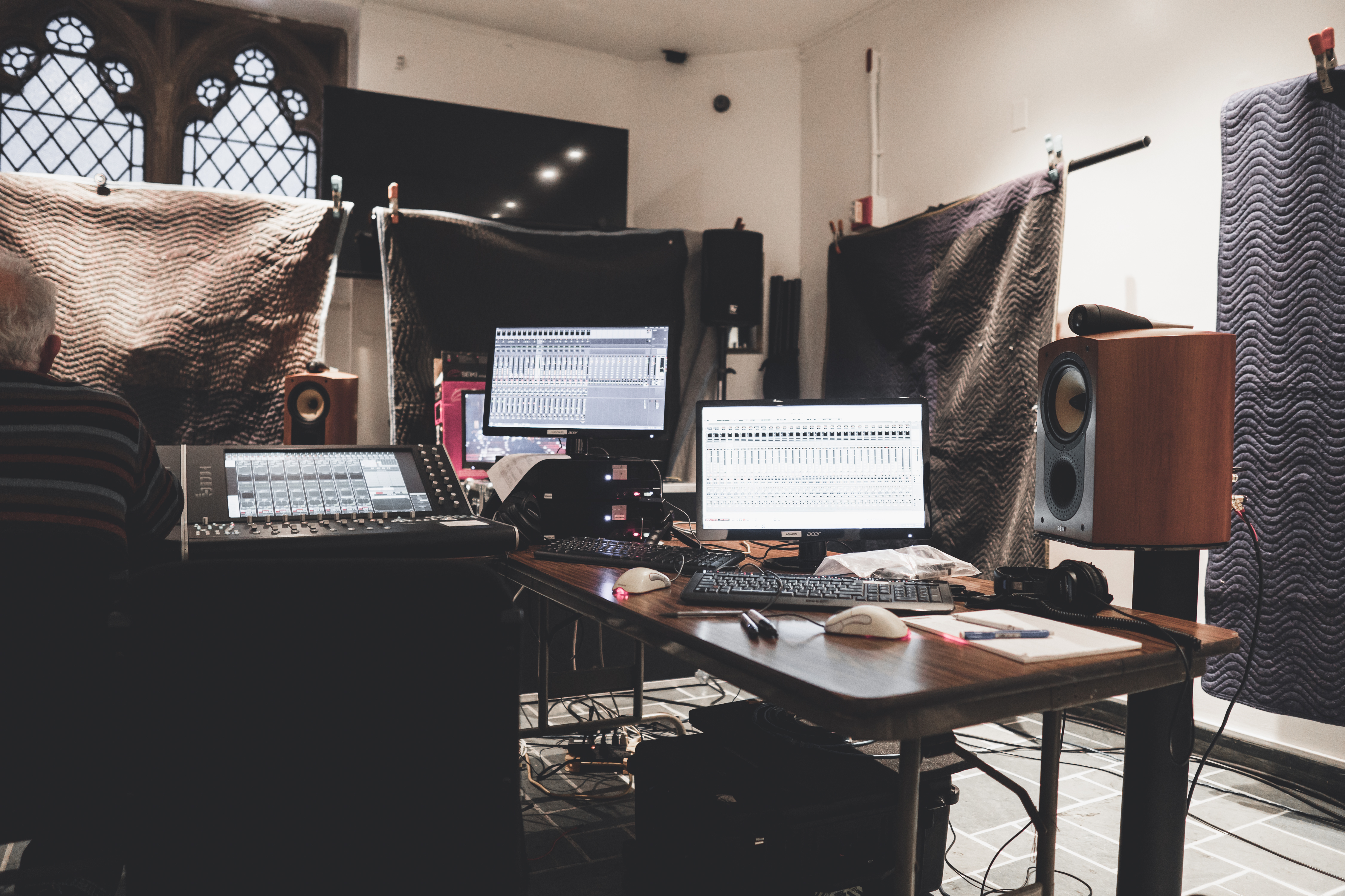 Control room shot from Trinity Wall St Session
