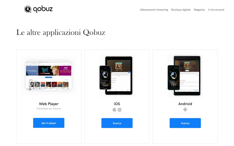 Piattaforme di musica in streaming   Qobuz