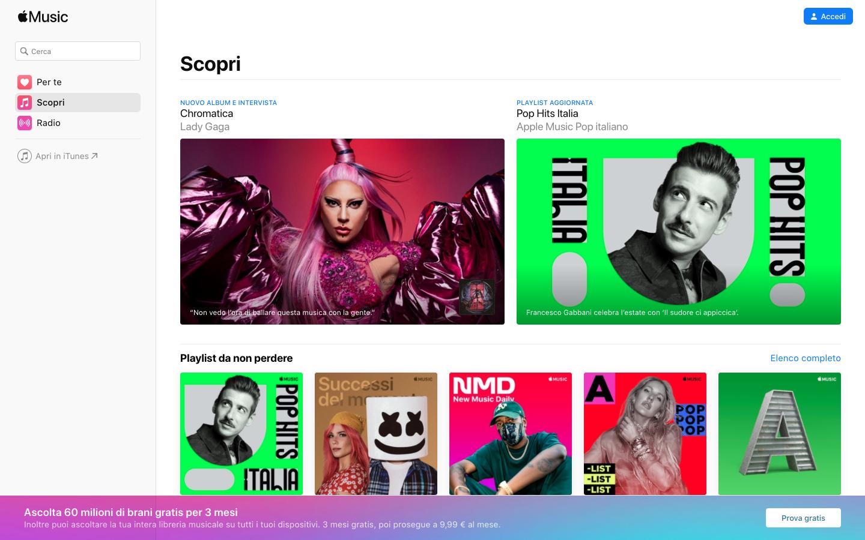 Piattaforme di musica in streaming   Apple Music