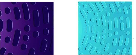 Sezione di un CD (a sinistra) e di un DVD (a destra) che mostrano le diverse dimensioni di pit e land (fonte: physics.udel.edu)