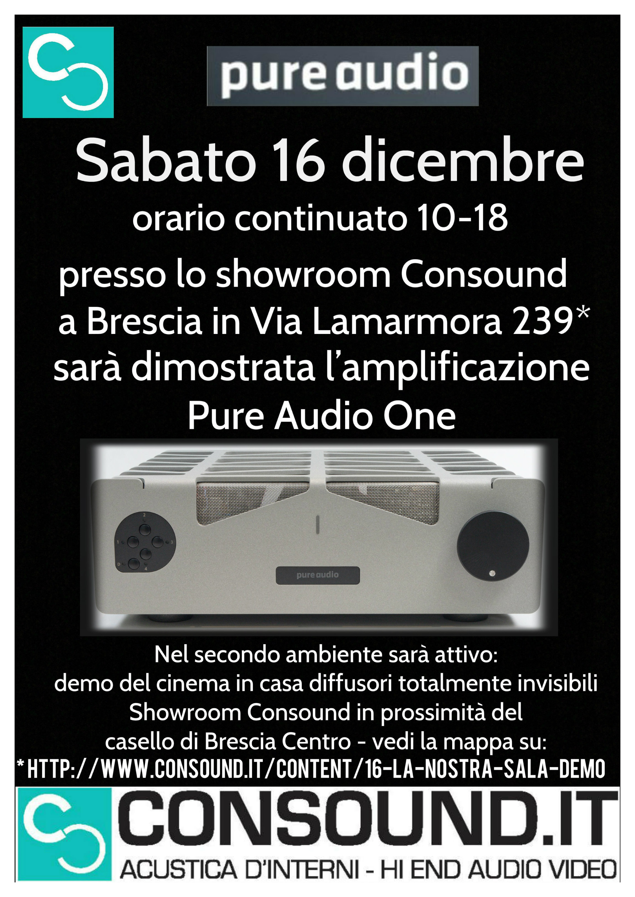 Nuovo integrato Pure Audio One da Consound