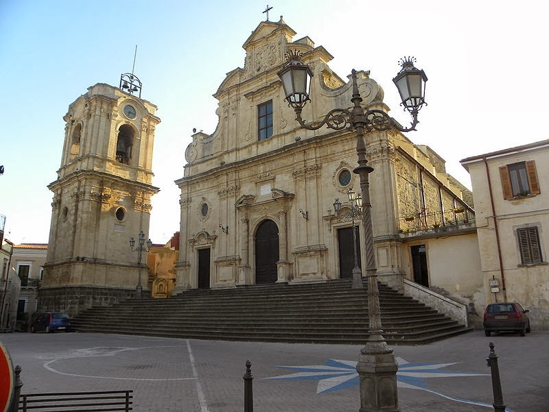 The Baroque Cathedral in Militello, Italy