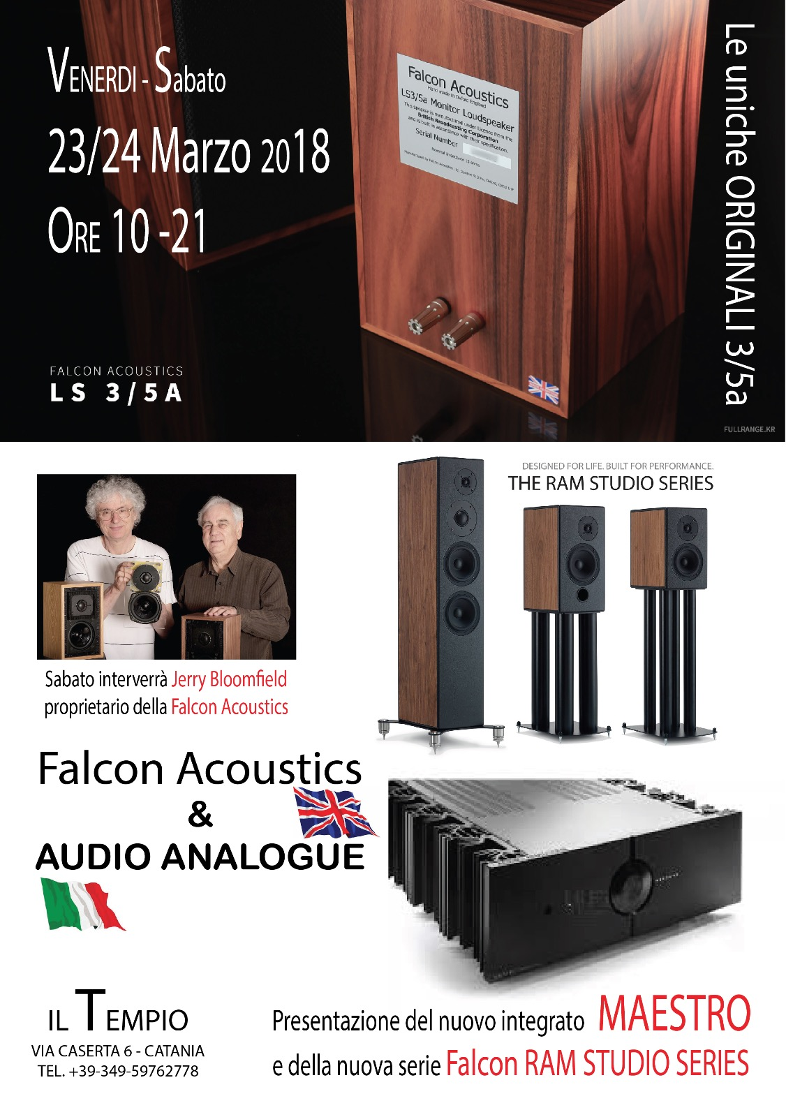 Demo Falcon Acoustics RAM e Audio Analogue Maestro