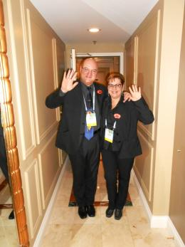 International CES 2014 | The woman and the man in black