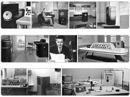 Studies and Period Photographs of BBC, acronym of British Broadcasting Corporation
