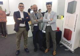 From left to right: Francesco Matera, Gianluca Sperti and Angelo Zilio, the AudioDinamica team at their the stand of the recent Munich High End.