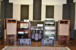 The Manley 500 monoblocks matched with the Orgue Archon Elite loudspeakers.