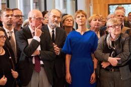 Arvo Pärt and Mrs. Kersti Kaljulaid, President of Estonia, at the Arvo Pärt Centre opening ceremony.