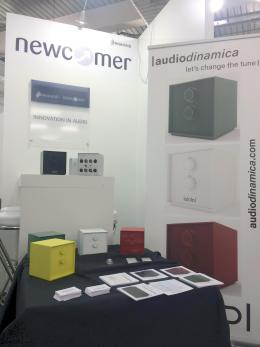 A corner of the AudioDinamica exhibition space.