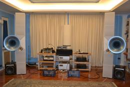 The Manley 500 monoblocks and the Acapella Campanile loudspeakers.